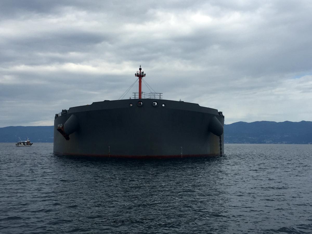 Rijeka anchorage